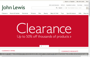 Preview 3 of the John Lewis website