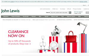 Preview 2 of the John Lewis website