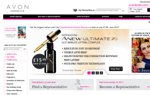 Preview 2 of the AVON website
