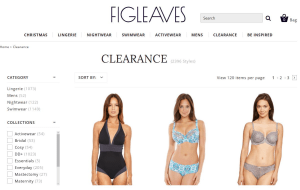 Preview 2 of the Figleaves website
