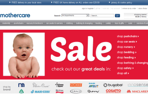 Preview 3 of the Mothercare website