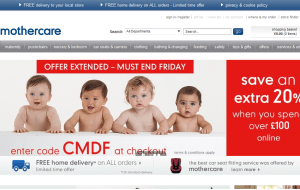 Preview 2 of the Mothercare website