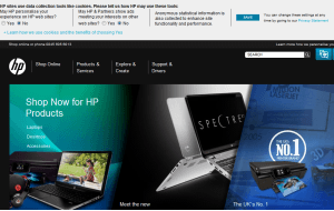 Preview 2 of the HP Store website