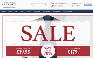 Preview 3 of the Charles Tyrwhitt website