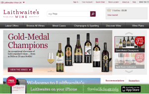 Preview 2 of the Laithwaites website