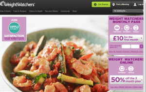 Preview 2 of the WeightWatchers website