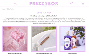 Preview 2 of the PrezzyBox website