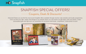 Preview 2 of the Snapfish website