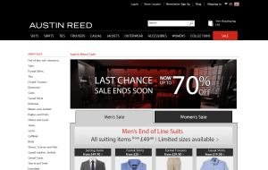 Preview 2 of the Austin Reed website