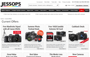 Preview 4 of the Jessops website