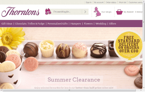 Preview 3 of the Thorntons website