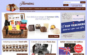 Preview 2 of the Thorntons website