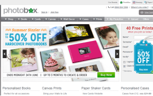 Preview 3 of the Photobox website