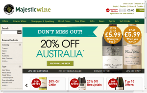 Preview 3 of the Majestic Wines website