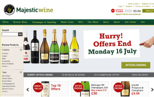 Preview 2 of the Majestic Wines website