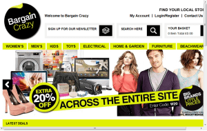 Preview 3 of the Bargain Crazy website