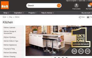 Preview 5 of the B&Q website