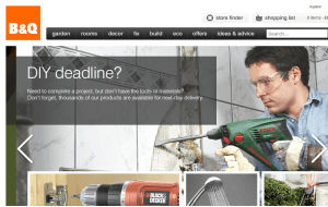 Preview 2 of the B&Q website