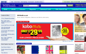 Preview 3 of the WHSmith website