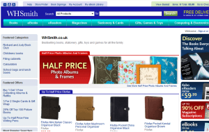 Preview 2 of the WHSmith website