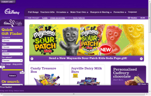 Preview 3 of the Cadbury Gifts Direct website