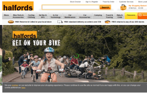 Preview 3 of the Halfords website