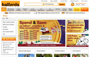 Preview 2 of the Halfords website