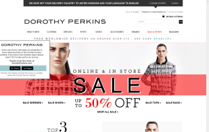 Preview 4 of the Dorothy Perkins website