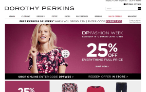 Preview 6 of the Dorothy Perkins website