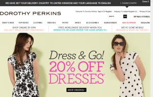 Preview 2 of the Dorothy Perkins website