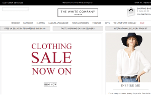 Preview 3 of the White Company website