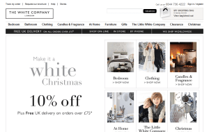 Preview 2 of the White Company website
