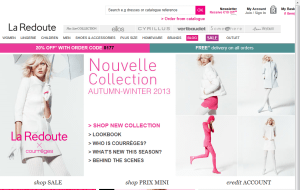 Preview 3 of the La Redoute website