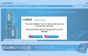 Preview 2 of the Crucial Memory website