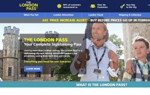 Preview 4 of the London Pass website