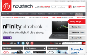 Preview 2 of the NovaTech website