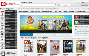 Preview 2 of the My Favourite Magazines website