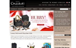 Preview 2 of the Hotel Chocolat website