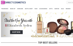 Preview 2 of the Direct Cosmetics website