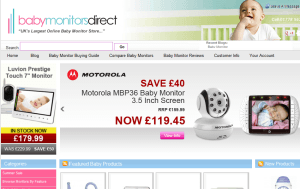 Preview 3 of the Baby Monitors Direct website