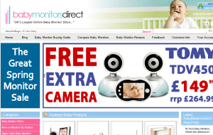 Preview 2 of the Baby Monitors Direct website