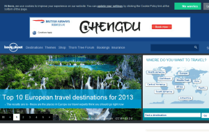 Preview 3 of the Lonely Planet website