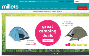 Preview 2 of the Millets website