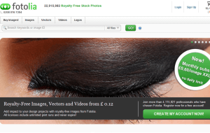 Preview 3 of the Fotolia website