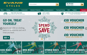 Preview 4 of the Evans Cycles website