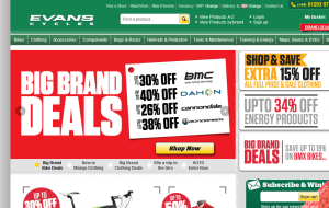 Preview 2 of the Evans Cycles website