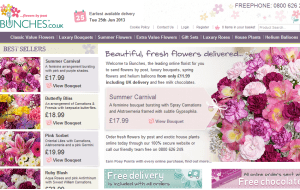 Preview 3 of the Bunches Flowers website