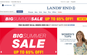 Preview 3 of the Lands End website