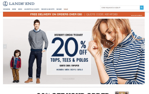 Preview 4 of the Lands End website