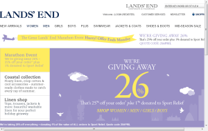 Preview 2 of the Lands End website